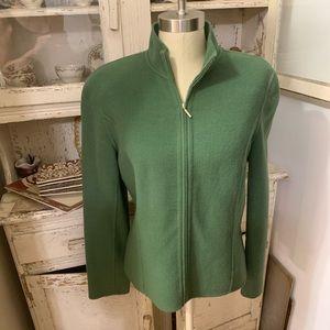 Charter Club Green Wool Blazer Jacket Sz L